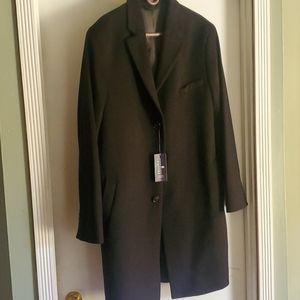 NWT 46 Reg Stafford Men's Wool Topcoat